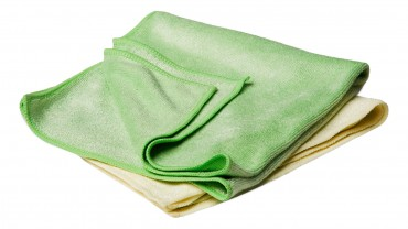 YELLOW & GREEN Buffing Towels (Set of 2)